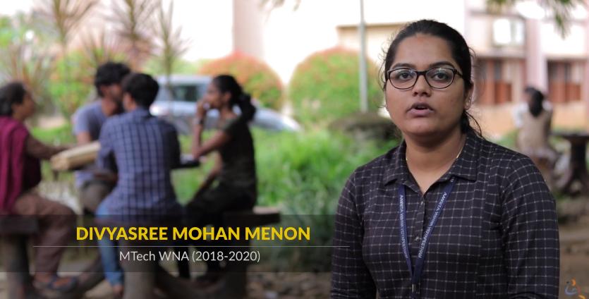 Divyasree Mohan sharing her experience at AmritaWNA