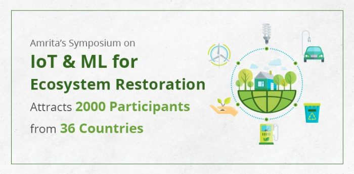 Amrita's Symposium on IoT & ML for Ecosystem Restoration Attracts 2000 Participants from 36 Countries