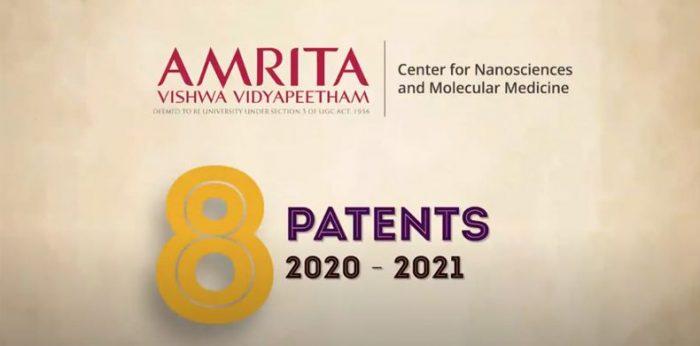 8 New Patents for Amrita Centre for Nanosciences & Molecular Medicine