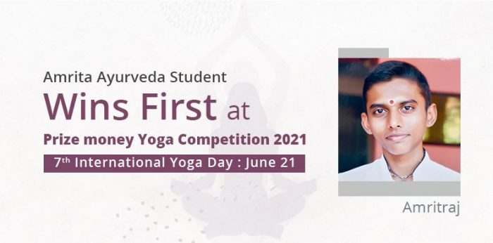 Amrita Ayurveda Student Wins First at Prize Money Yoga Competition 2021