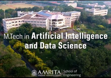 M.Tech. Artificial Intelligence & Data Science, Amrita Vishwa Vidyapeetham