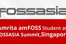 Amrita Student at FOSSASIA Summit, Singapore