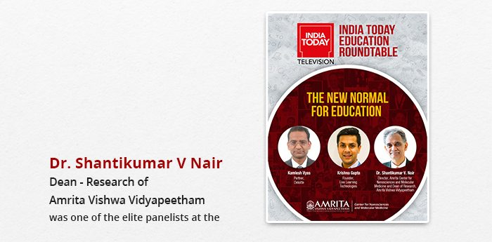 Amrita Dean of Research In Conversation at the India Today TV Education Round Table