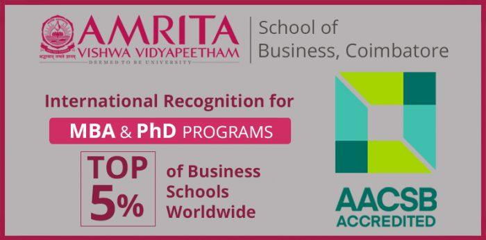AACSB International Accreditation for Amrita School of Business (ASB)