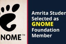 Amrita Student Selected as GNOME Foundation Member