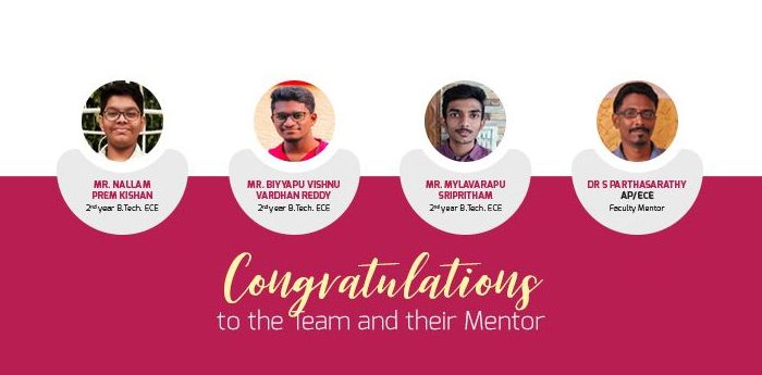 Amrita Students Win First in Indian National Academy of Engineering Youth Conclave 2021