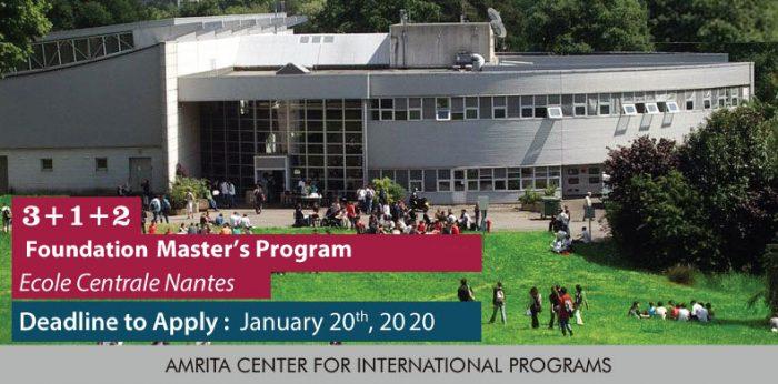 3+1+2 Foundation Master's Program – École Centrale de Nantes or Centrale Nantes, France