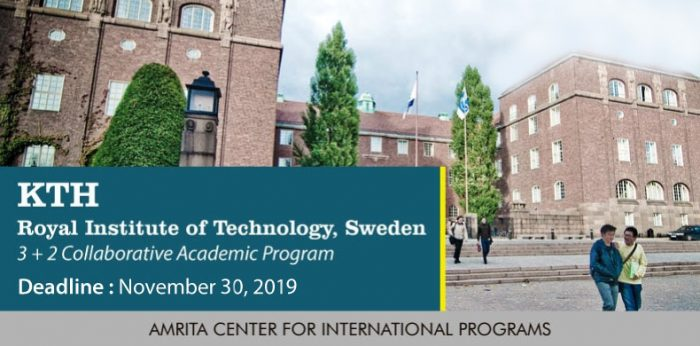 KTH Royal Institute of Technology, Sweden: 3 + 2 Collaborative Academic Program