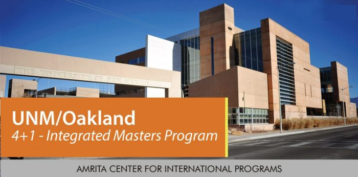 University of New Mexico (UNM)/Oakland 4+1 Integrated Masters Program